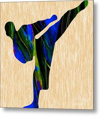 Karate Painting Metal Print by Marvin Blaine