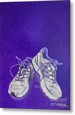 Metal Print featuring the painting Karen's Shoes by Pamela Clements