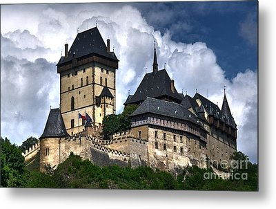 Metal Print featuring the photograph Karlstejn Castle In Prague 2 by Joe  Ng