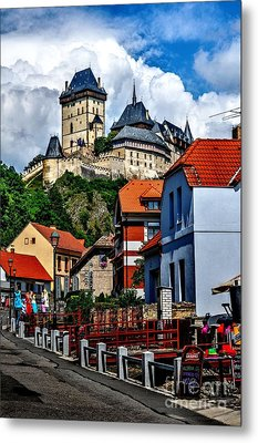 Metal Print featuring the photograph Karlstejn Castle In Prague  by Joe  Ng