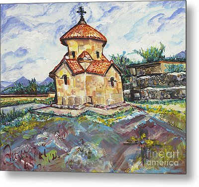 Karmravor Church Vii Century Armenia Metal Print by Helena Bebirian