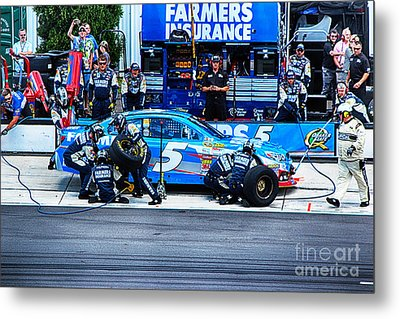 Kasey Kahne's Last Stop Before Victory Metal Print by Tony Cooper
