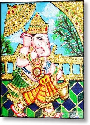 Kasi Yatra Ganesh Metal Print