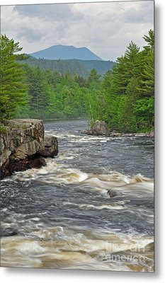 Katahdin And Penobscot River Metal Print