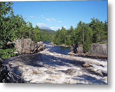 Katahdin From The Crib On The West Branch Metal Print