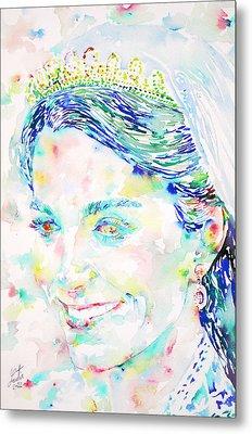 Kate Middleton Portrait.2 Metal Print by Fabrizio Cassetta