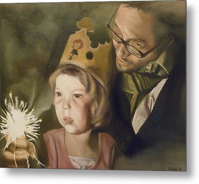 Kate's Sparkler Metal Print by Cherise Foster