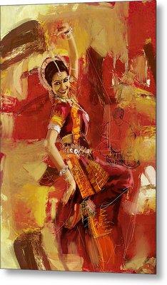 Kathak Dancer 6 Metal Print by Corporate Art Task Force