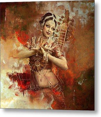 Kathak Dancer Metal Print by Corporate Art Task Force