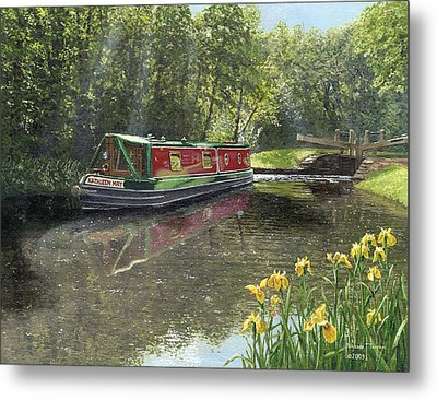 Kathleen May Chesterfield Canal Nottinghamshire Metal Print by Richard Harpum