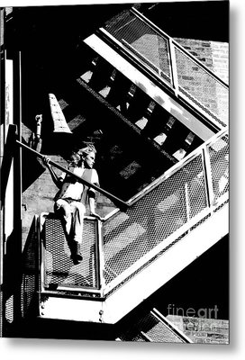Katie-fire Escape Metal Print by Gary Gingrich Galleries