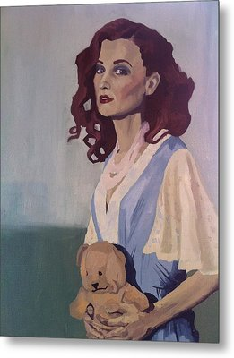 Katie - Teddy Bear Metal Print
