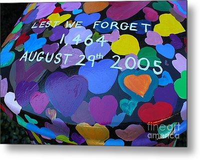 Katrina Casket Memorial Inscription Metal Print