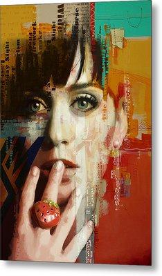 Katy Perry Metal Print by Corporate Art Task Force