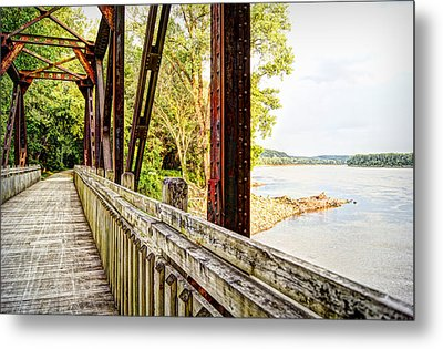 Katy Trail Near Coopers Landing Metal Print by Cricket Hackmann