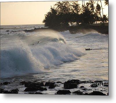 Kauai - Brenecke Beach Surf Metal Print by HEVi FineArt