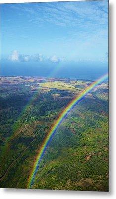 Kauai Double Rainbow Metal Print by Kicka Witte