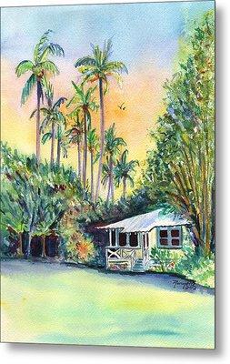 Kauai West Side Cottage Metal Print by Marionette Taboniar