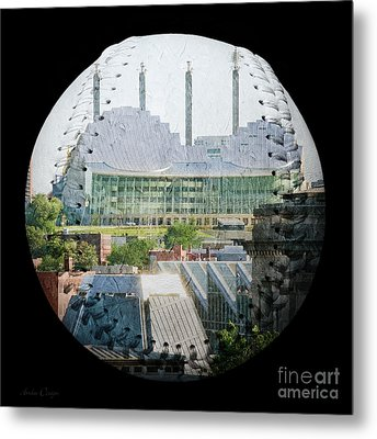 Kauffman Center For The Performing Arts Square Baseball Metal Print