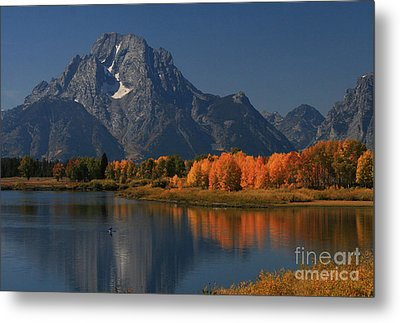 Metal Print featuring the photograph Kayak At Oxbow Bend by Clare VanderVeen