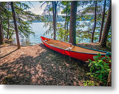 Kayak By The Water Metal Print