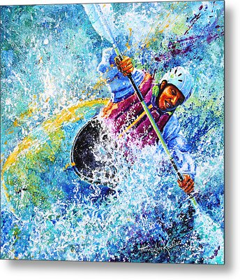 Kayak Crush Metal Print by Hanne Lore Koehler