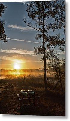 Metal Print featuring the photograph Kayak Morning by Margaret Palmer