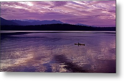 Metal Print featuring the photograph Kayak On Dabob Bay by Greg Reed