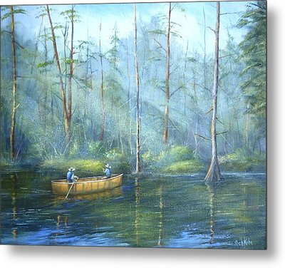 Kayak Rays Metal Print by Rich Kuhn