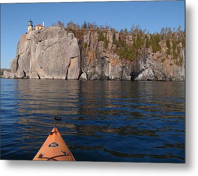 Metal Print featuring the photograph Kayaking Beneath The Light by James Peterson