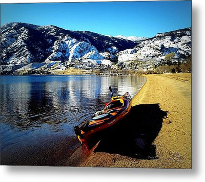 Kayaking In January Metal Print