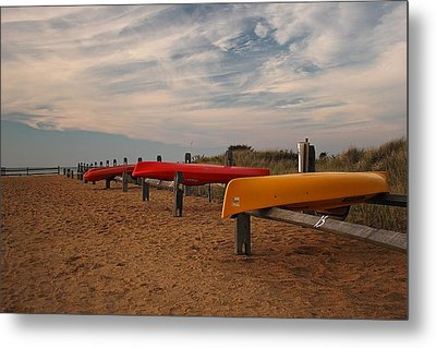 Metal Print featuring the photograph Kayaks by Amazing Jules