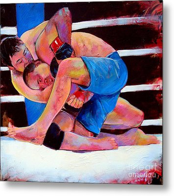 Metal Print featuring the painting Kazushi Sakuraba by Robert Phelps
