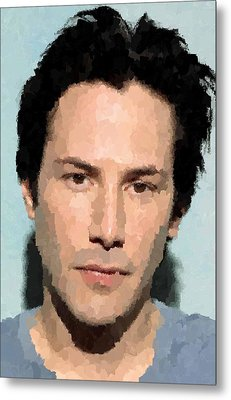 Keanu Reeves Portrait Metal Print