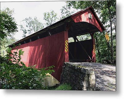 Keefer Station Covered Bridge Metal Print