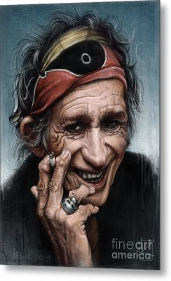 Keith Richards Metal Print