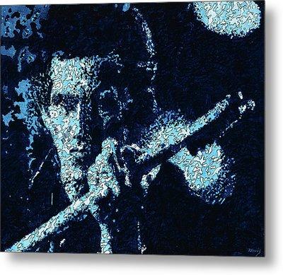 Keith Richards Metal Print by Barry Novis