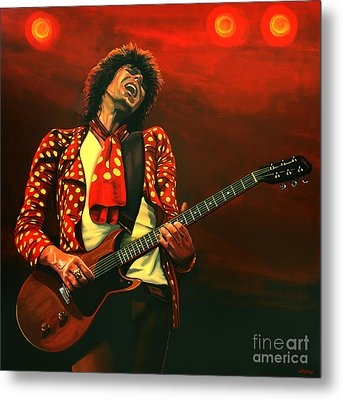 Keith Richards Painting Metal Print by Paul Meijering