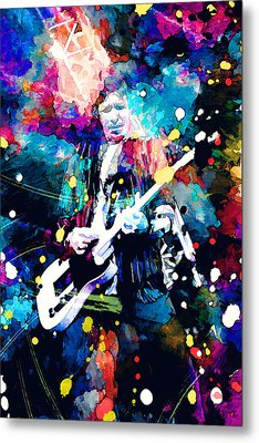 Keith Richards Metal Print by Rosalina Atanasova