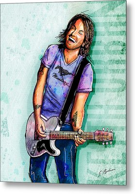 Keith Urban Metal Print by Gary Bodnar
