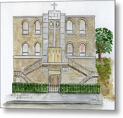 Kelly Temple Church In East Harlem Metal Print by AFineLyne