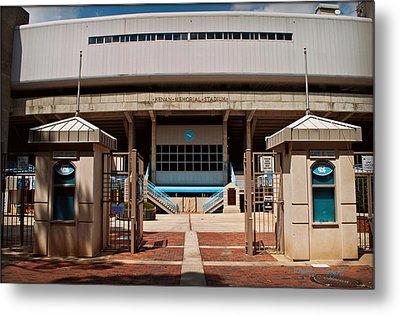 Kenan Memorial Stadium - Gate 6 Metal Print by Paulette B Wright