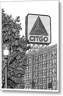 Kenmore Square Citgo Sign Metal Print by Conor Plunkett
