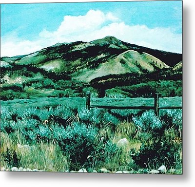 Kennedy Peak In Wyoming Metal Print