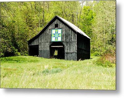 Kentucky Barn Quilt - Darting Minnows Metal Print by Mary Carol Story
