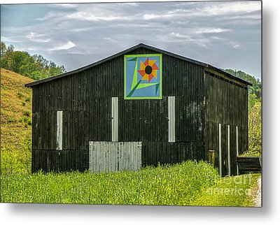 Kentucky Barn Quilt - Flower Of Friendship Metal Print by Mary Carol Story