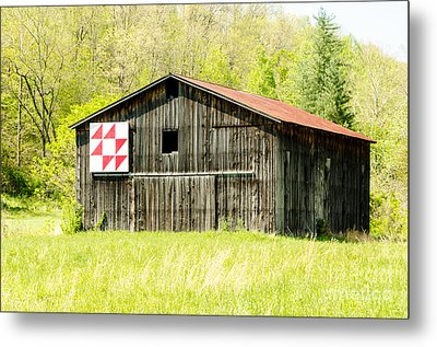 Kentucky Barn Quilt - Flying Geese Metal Print by Mary Carol Story