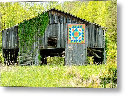 Kentucky Barn Quilt - Thunder And Lightening Metal Print by Mary Carol Story