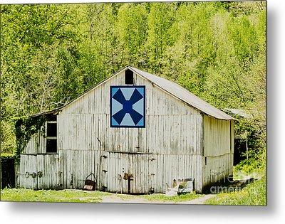 Kentucky Barn Quilt - Windmill Metal Print by Mary Carol Story