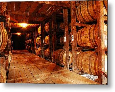 Kentucky Bourbon Aging In Barrels Metal Print